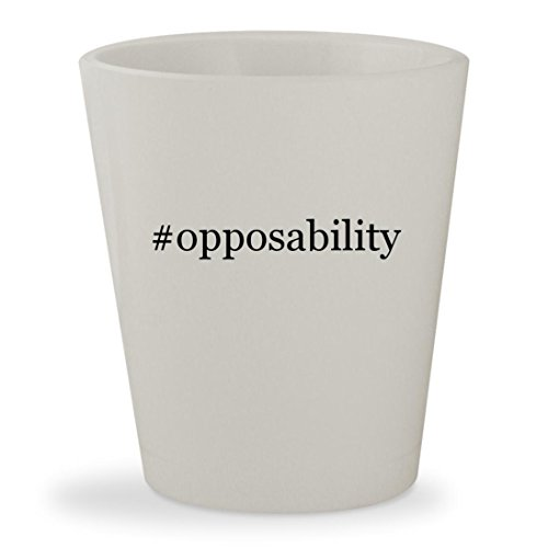 Opposability   White Hashtag Ceramic 1 5Oz Shot Glass