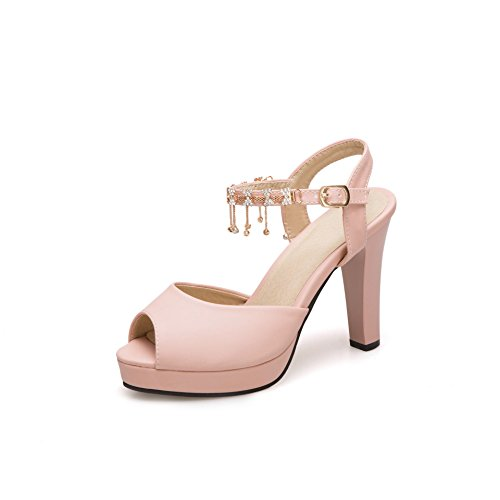 Chaussures à talon type sandale Beige Synthetique (polyurethane) - Femme Taille 37 - Bréal