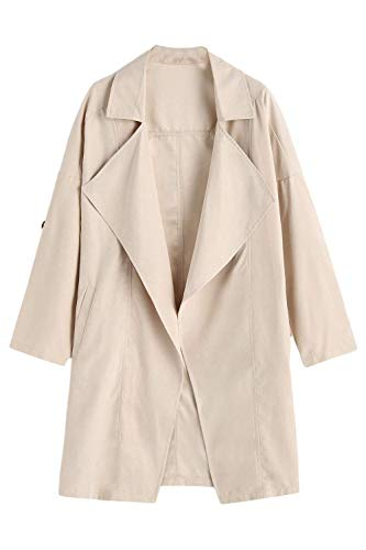 BOLAWOO Blouson Femme Printemps Automne Trench El