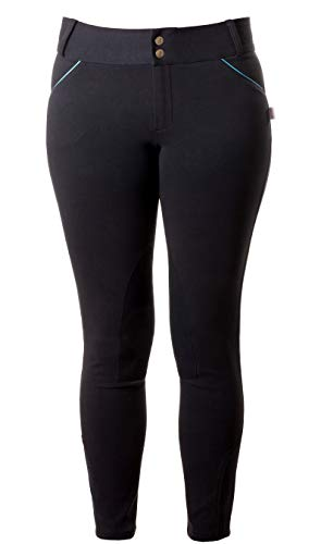 - DEVON-AIRE Ladies Granada Euro Seat Breeches, Black, XSmall
