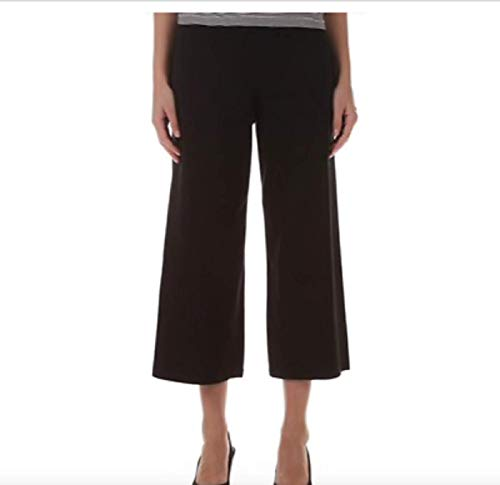 Eileen Fisher Black Organic Cotton Stretch Jersey Wide Croppred Pants Size XL MSRP $138