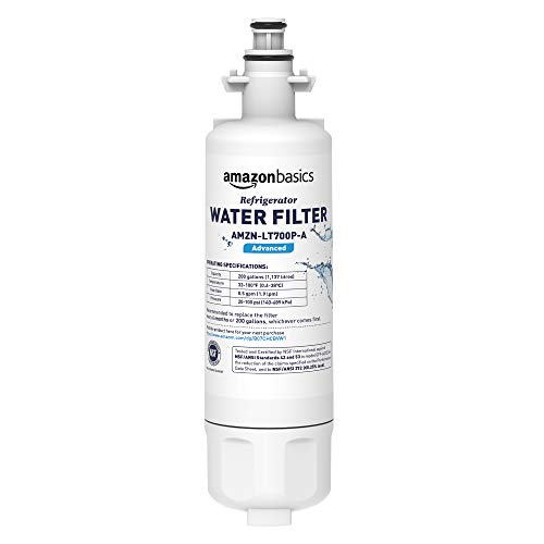 AmazonBasics Replacement LG LT700P Refrigerator Water Filter - Advanced Filtration