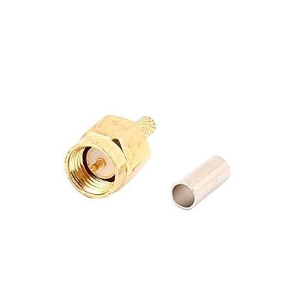 DealMux SMA adaptador macho Hetero RF Conector Coaxial Cable w Virola