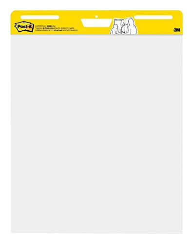 Post-it Super Sticky Easel Pad, 25 x 30 Inches, 30 Sheets/Pad, 10 Pads, Large White Premium Self Stick Flip Chart Paper by Post-it (Image #1)