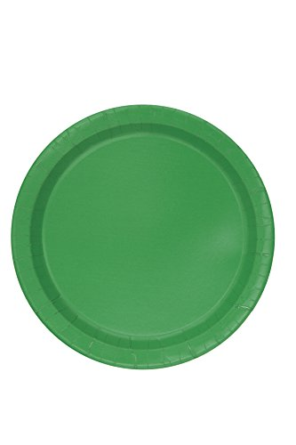 Green Paper Cake Plates, 20ct
