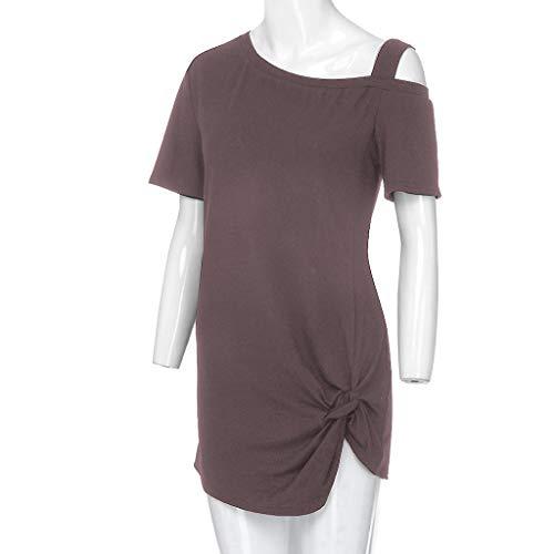 Zackate_Women Sweatshirts Women's Short Sleeve Casual Cold Shoulder Tunic Tops Loose Blouse Shirts by Zackate_Women Sweatshirts (Image #5)