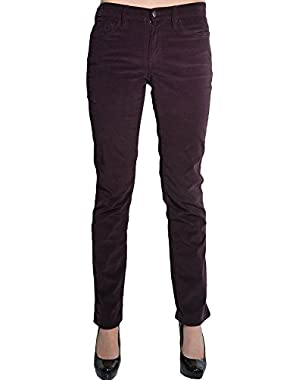 Calvin Klein Womens Power Stretch Straight Leg Slim Fit Corduroy Pants