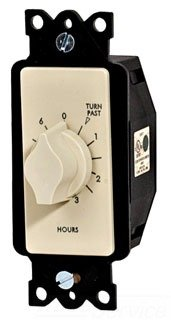 A Series Springwound Auto Off In-Wall Time Switch, 6 Hour...