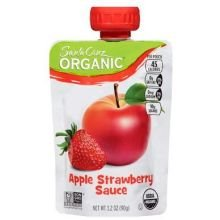 Santa Cruz Organic Strawberry Apple Sauce, 3.2 Ounce - 24 per case. (Apple Santa Organics Cruz)