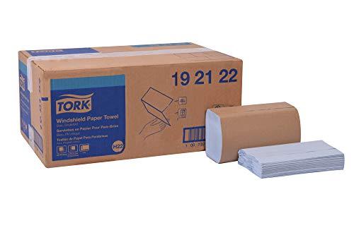 "Tork 192122 Windshield Paper Towel, Single Fold, 2-Ply, 9.125"" Width x 10.25"" Length, Blue (Case of 16 Packs, 140 per Pack, 2240 Towels)"