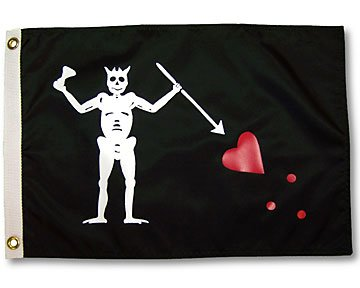Pirate Edward Teach Blackbeard Garden Flag 3x5ft