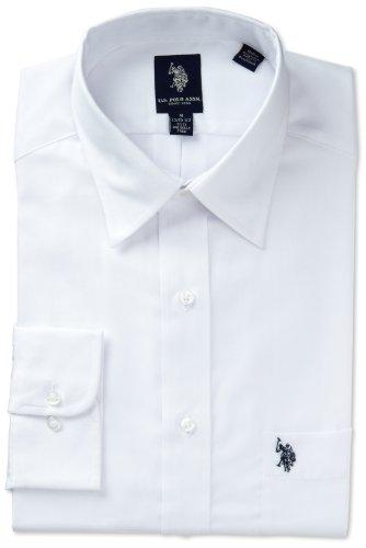 US Polo Association Men's Herringbone Dress Shirt