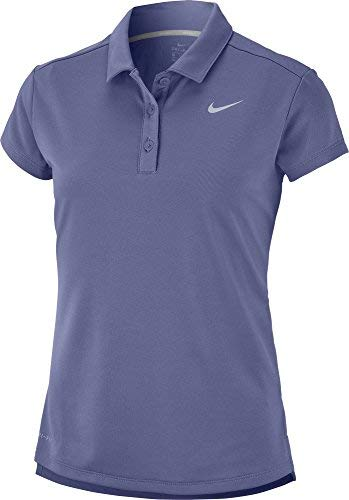 Nike Dri Fit Victory Shortsleeve Golf Polo 2018 Girls Purple Slate/Flat Silver Large