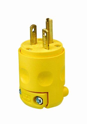 Leviton 620PV 20 Amp, 250 Volt, Plug, Grounding, Yellow