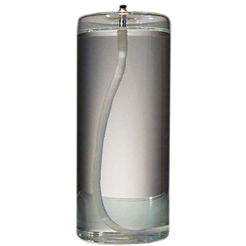 6-Inch Refillable Glass Pillar Candle - Memory, Unity, Prayer and Window Candle Without The Wax Mess - Use Alone, in a Candle Holder or Lantern - for use in The Interior of Your Home