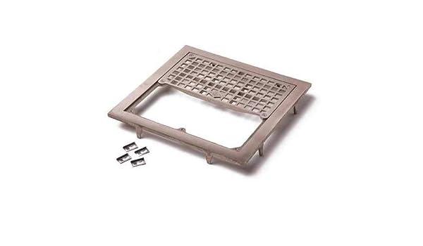 Floor Drain, Nickel Bronze, Square, 1-1/2