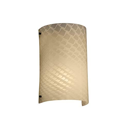 Justice Design Group Lighting FSN5542WEVEMBLK FusionCollection Finials Curved Wall Sconce