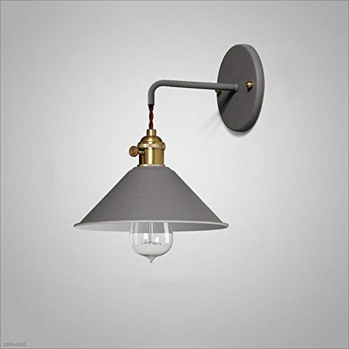 Vintage Retro E27 Edison Industrial Wall Sconces Lights Iron Craft Wall Sconces Fixtures for Aisle Balcony Stairs Bedroom Cafe Bar Indoor Decoration Lamps (Color : Gray) (Best Cordless Iron Australia)