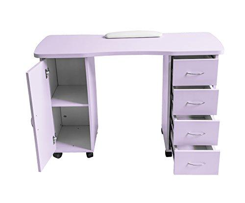 ExacMe Slightly purple Manicure Nail Table Station Desk Spa Beauty Salon Equipment 400/600 (600) by BarberPub (Image #2)