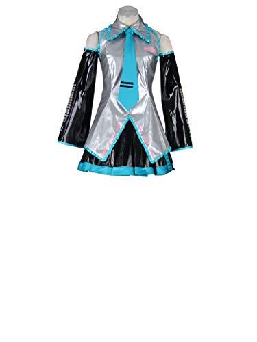 Mtxc Women's Vocaloid Cosplay Costume Super Alloy Hatsune Miku Size XXXL-Plus Grey]()