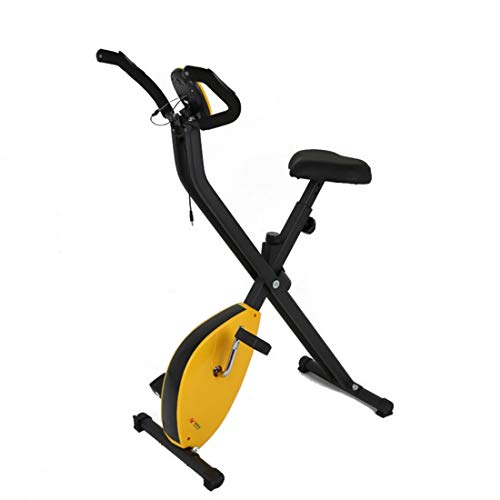 Indoor Cycling Exercise Bike Compact Folding Exercise Bikes Home Aerobic Fitness Cycling Bicycle Trainer with Training…