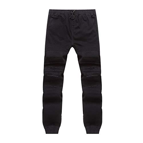 Fashion Uomo Slim Neri Pantaloni C11 Jeans Vintage Casual Denim Huixin Skinny wgqOx