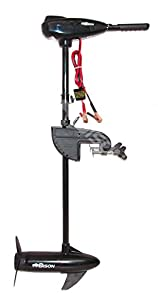 Bison 40ft lb electric outboard trolling motor with free for Strongest 12v trolling motor