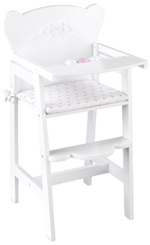 KidKraft 61111 Tiffany Bow Lil' Doll High Chair (Doll Furniture Set)