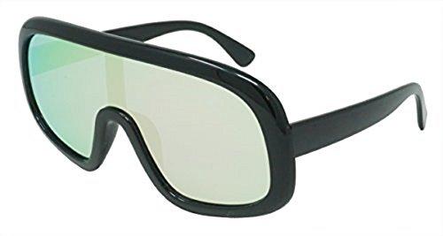 Funny Guy Mugs Tubular Unisex Retro Mirrored Sunglasses (REVO SILVER, REVO - Guys Glasses For
