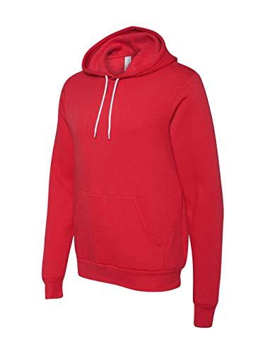 Bella + Canvas Mens Poly-Cotton Fleece Pullover Hoodie (3719) -RED -XL