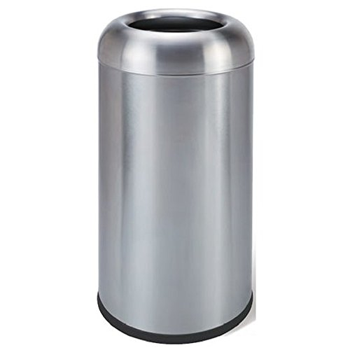AMENITIES DEPOT 16 Gallon/60 Liter Finger Print Resistant Stainless Steel Trash Can Garbage Bin(GPX-110U)