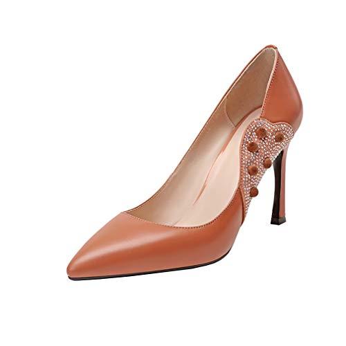 Chaussures Femme Vaneel nbsp;pointu Marron Glisser Vadxpt Bout 7 5cm Escarpins Sur zgPzqU