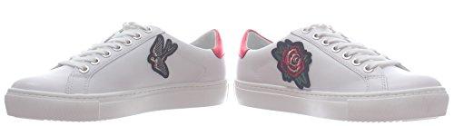 Sneaker LTHR Lagerfeld White Chaussures Femme Karl 011 Karl KL61036 Captain Lace T6wtvq