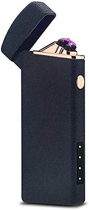 Electric Arc Lighter Plasma Lighters Rechargeable USB Lighter Electronic Windproof Lighter for Cigarette,Candl