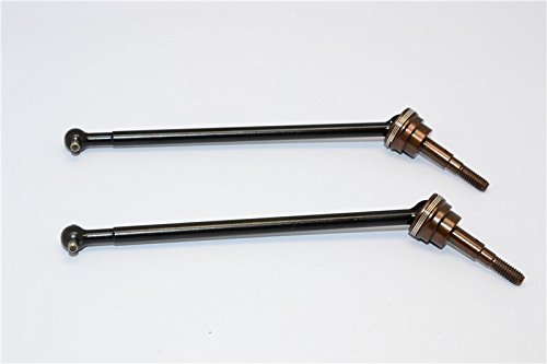 Axial Yeti (AX90026) & Yeti SCORE (AX90068) Upgrade Parts Steel#45 Rear CVD Universal Swing Shaft With Spring Steel Cup Joint - 1Pr ()