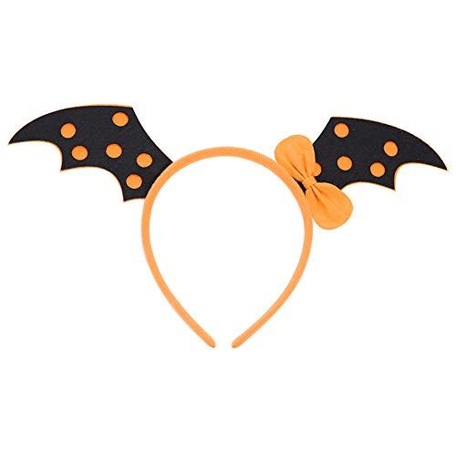 Blue Dress - Witch Pumpkin Bat Skull Headband