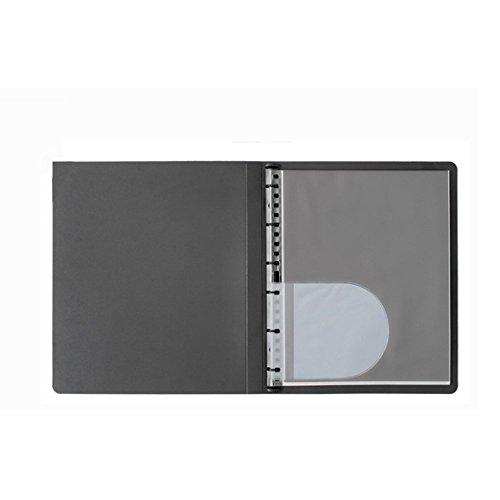 (Prat Start 1 Spiral Book, Semi-Rigid Cover, 10 Sheet Protectors with Black Paper Inserts, Multi-Ring Binder and CD Holder, 11 X 8.5 inches, Black (SPB-11BK))