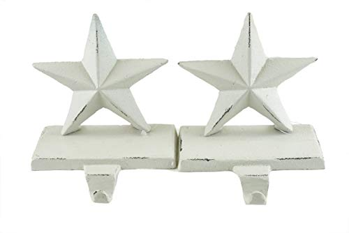 Holiday Stocking Holder (Party Explosions Cast Iron White Stars Holiday Stocking Holders - Set of 2)