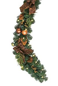 6' Pre-Lit LED Battery Operated Decorated Christmas Garland - Warm Clear Lights