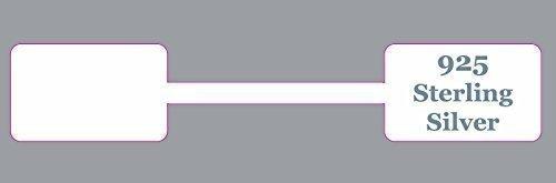 Confezione Da 500 - Argento 925 Ultra Resistente Rettangolare Gioielleria Dumbell Etichette Prezzo / Adesivi / Etichette Targhette Audioprint Ltd.