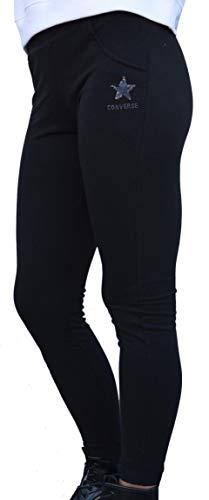 Donna Pantalone Nero Xl Fleece Tuta Converse Hoodie 1vqawxZ