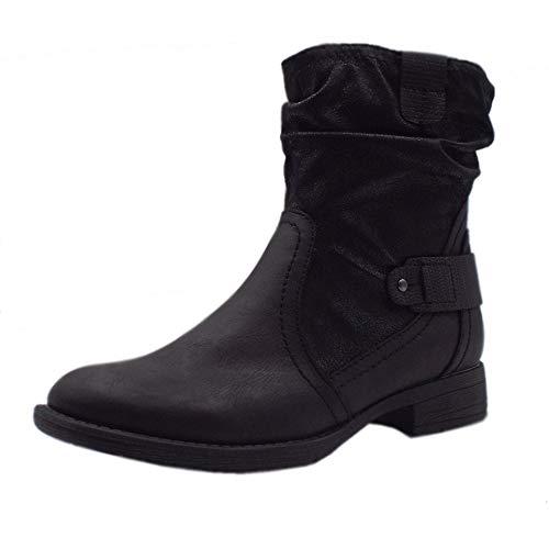 25460 Black Stile Jana Biker Line In Stivali Appleyard Nero Forma Soft Larga qHxwTx7RAE