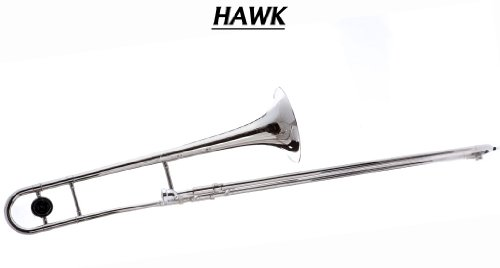 Best Hawk WD-TB316 Slide Bb Trombone with Case and Mouthpiece, Nickel Plated