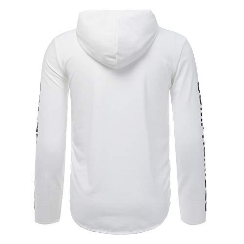 Sweatshirt Tops Imprimée Veste Automne Homme Pull Hauts Chemisier chaud Blanc Hiver Cebbay Manteau lettre Pullover Outwear XqCE7xw