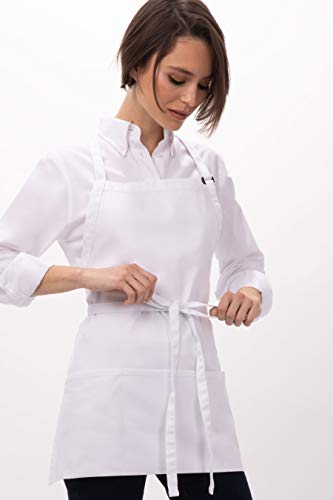 - Chef Works Unisex Three Pocket Apron, White 24-Inch Length by 28-Inch Width