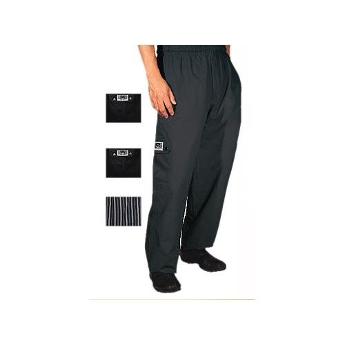 Chef Revival P024BK Poly Cotton Cargo Pant with 6 Total Pockets, Small, Black by Chef Revival