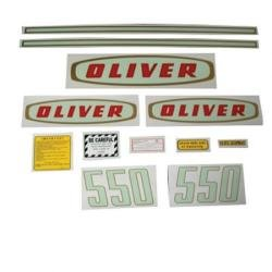 Tractor Decal Set, Oliver 550 Early, Mylar