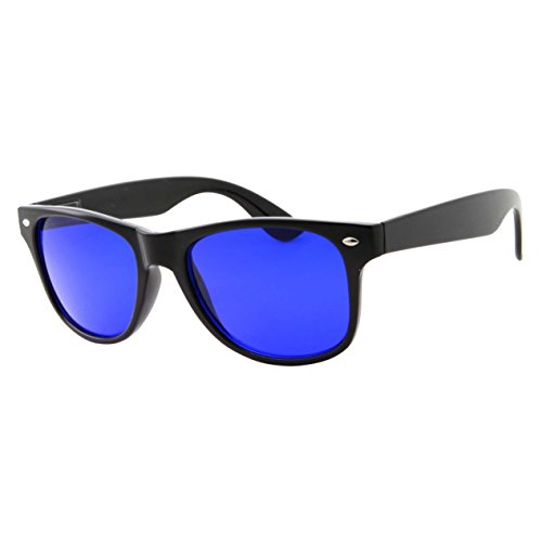 Golf Ball Finder Glasses - Casual Classic Style True Blue Lens Sunglasses - Men and Women (Black) -
