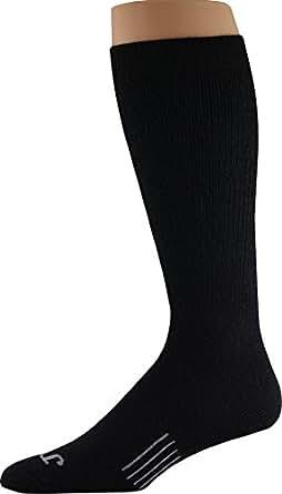 John Wayne, Elite Boot, Premium Wool Socks, Durable with Arch Support - 1 Pair (9-11) Black