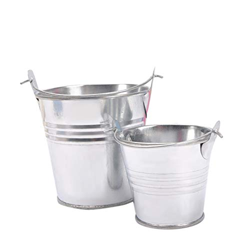 Forart Mini Metal Buckets Tin Party Pail Containers, Home Candy Craft Ornaments Small Iron Barrel Tinplate Mini Bucket for Bridal Wedding Party